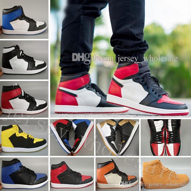 Sıcak OG 1 Top 3 Erkekler Basketbol Ayakkabıları Bred Toe Chicago Yasaklı Kraliyet Mavi Parçası UNC ANNE EV SıCAK Yeni Aşk Şehir Uçuş Sneakers Of Spor
