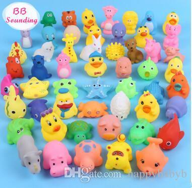 Wysokiej Jakości Baby Kąpiel Water Duck Toy Dźwięki Mini Żółte Gumowe Kaczki Kąpiel Mała Kaczka Zabawka Dzieci Pływa Plaży Dla Dzieci Prezenty
