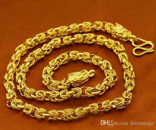 Mężczyźni 18k żółty złoto wypełnione kran wiosna Kubańska Curb Link Łańcuch