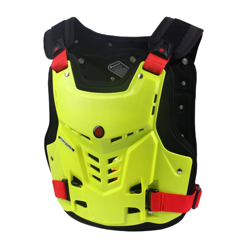 Motorcycle Armor Motocross Chest Back Protector Armour Vest Racing Protective Moto Body Guard Vest MX Jacket ATV Guard Black