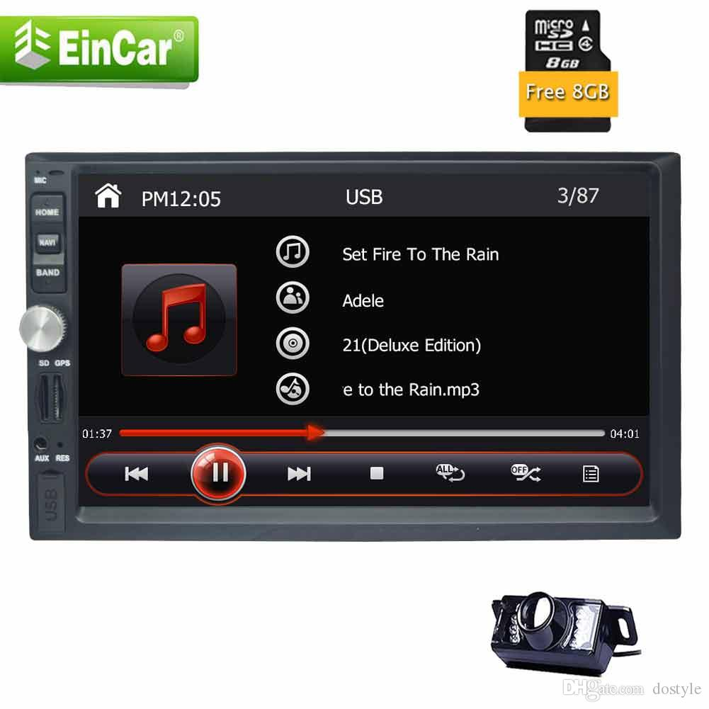 "Eincar 7"" In Dash Double DIN Car Electronics Stereo GPS Navigation Radio Head Units Car Audio AM/FM Radio Bluetooth USB SD music"