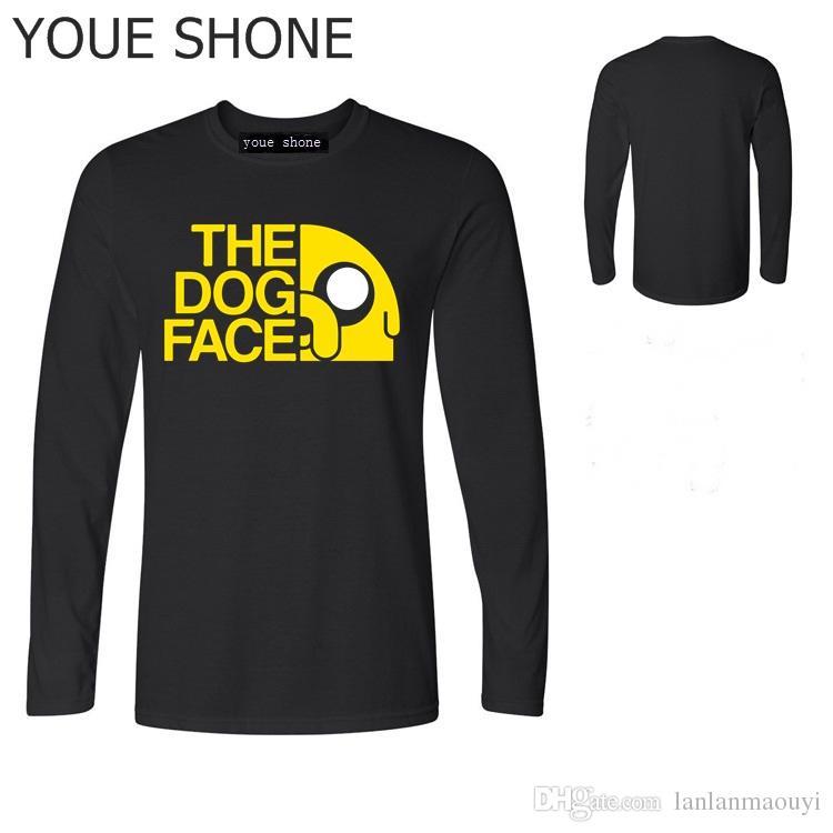 Homem A cara do cão engraçado Dos Desenhos Animados 3d impressão Unisex t shirt homens verão nova animação Hora de Aventura T-Shirt Finn e Jake tshirt