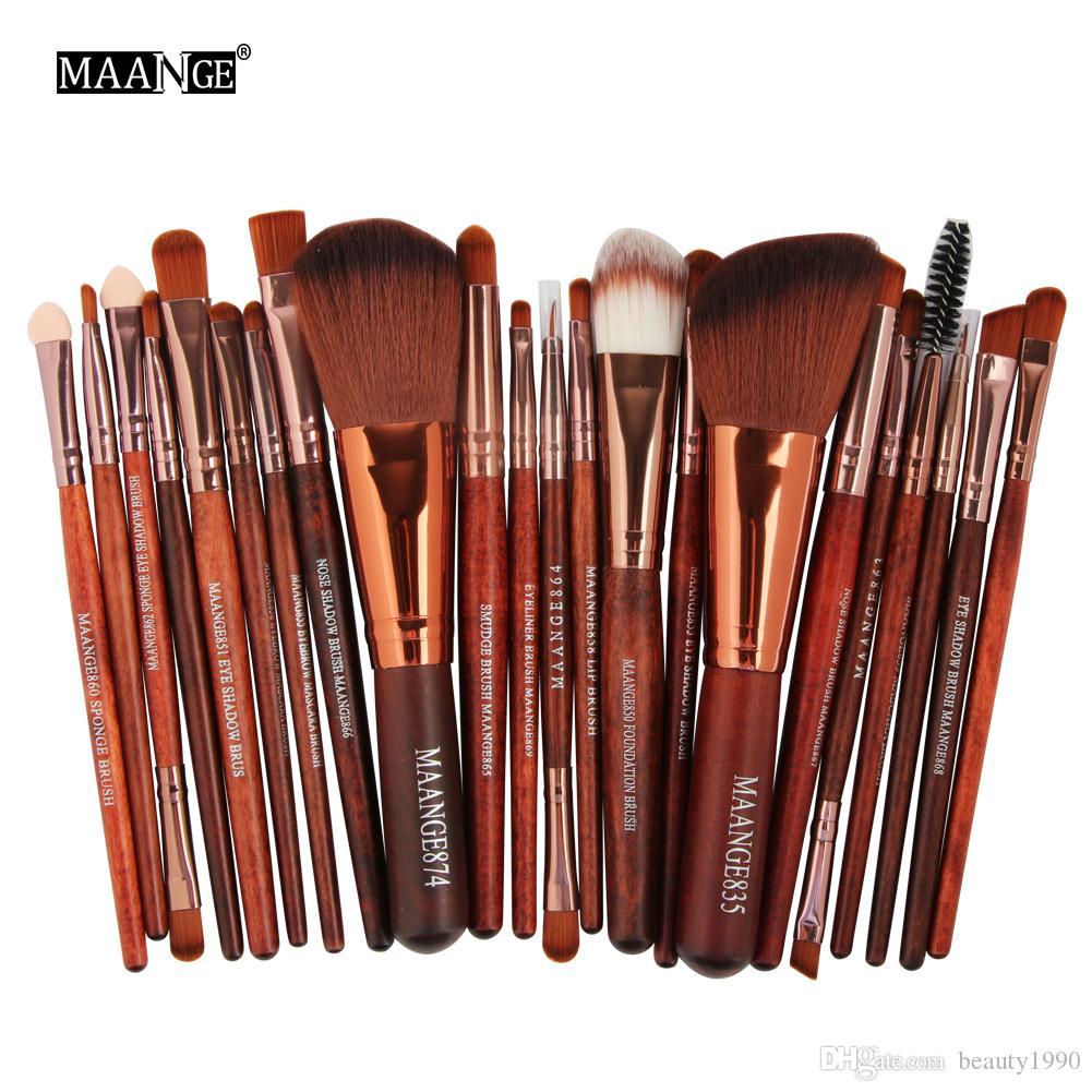 22 pz Pennelli Trucco Set Bellezza Cosmetic Foundation Powder Blush Ombretto Ombretto Liner Labbro Make up Brush Tools Kit Maquiagem