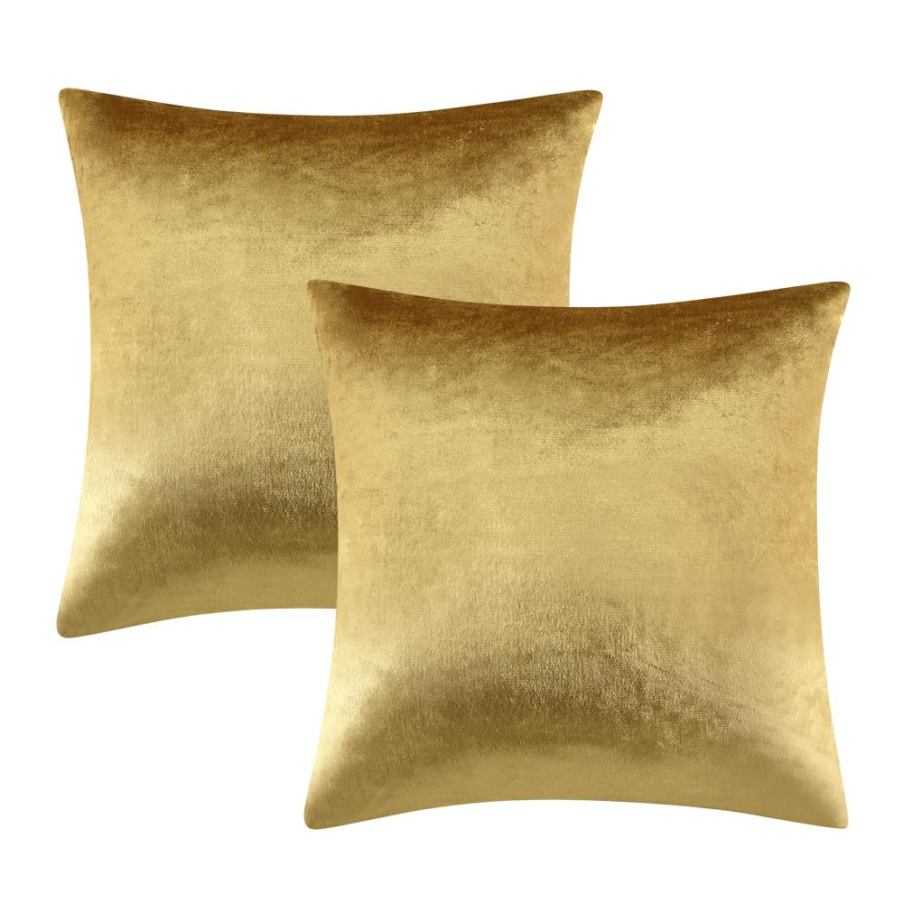 wholesale 2 Packs Gold Shinny velvet Decorative Throw Pillow Covers Wholesale Cushion Cover for Sofa Silver Green Luxury Fabric