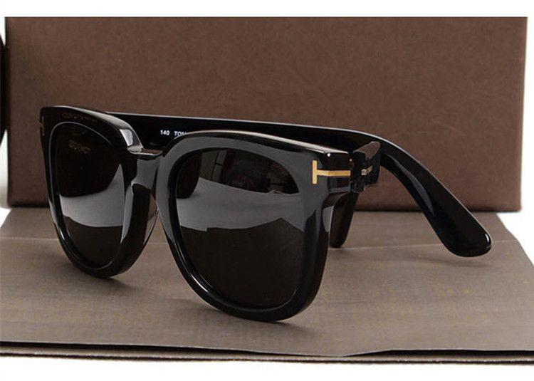 luxury top big qualtiy New Fashion 211 Tom Sunglasses For Man Woman Erika Eyewear ford Designer Brand Sun Glasses with Sunglasses Lenses