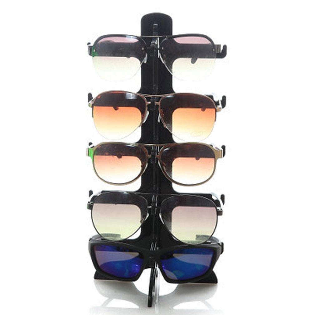 5 Capas Gafas de sol Marco de plástico Soporte de exhibición Gafas Gafas Gafas de colores Contador de exhibición Soportes Soporte Rack
