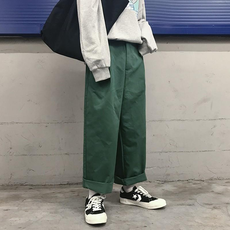 2019 2018 Korean Autumn Newest Men\u0027S High Street Fashion Restore Ancient  Ways Wide Leg Pants Loose Casual Solid Color Trousers M 2XL From Yonnie,