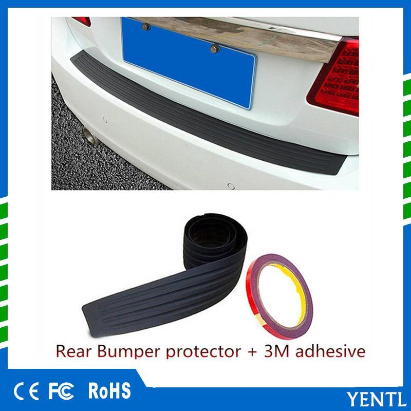 Car Bumper Rubber Sticker Rear Cover Sill Plate Trunk Bumper Guard Protector