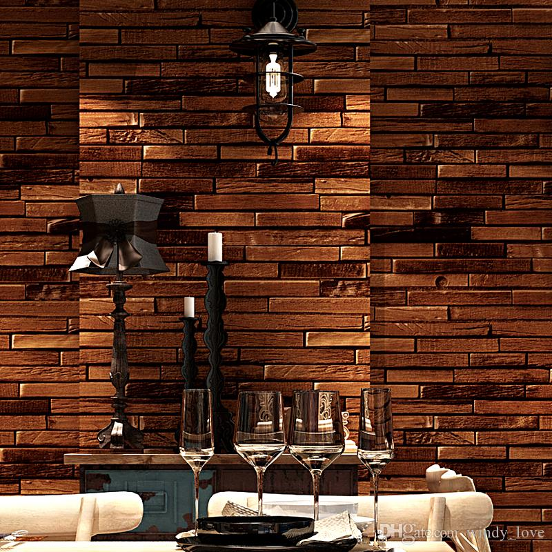 papel parede Vintage Brick Wallpaper 3D Home Decor Retro Brown Red Wall Paper Rolls for Shop Walls Decoration decoracao casa