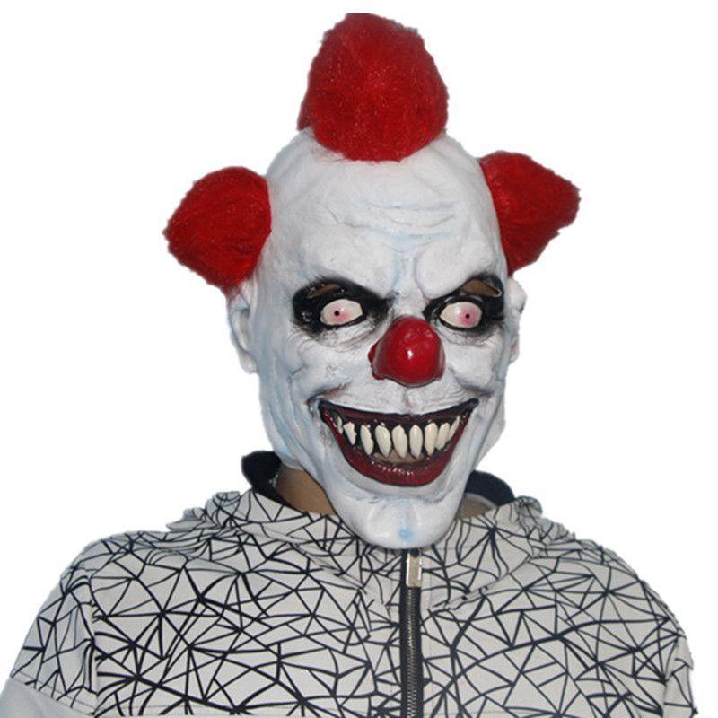 Urok czujący istoty Halloween Latex Maska Zabawna / Tricky Horror Clown Maska Pełna twarz Cosplay Maska