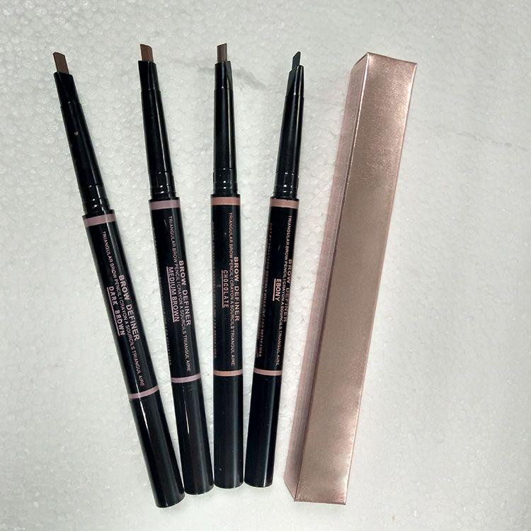حار ماكياج الحاجب المحسنات ماكياج نحيل الحاجب قلم رصاص الذهب مزدوجة المنتهية مع فرشاة الحاجب 0.2 جرام 5 اللون + هدية dhl شحن مجاني