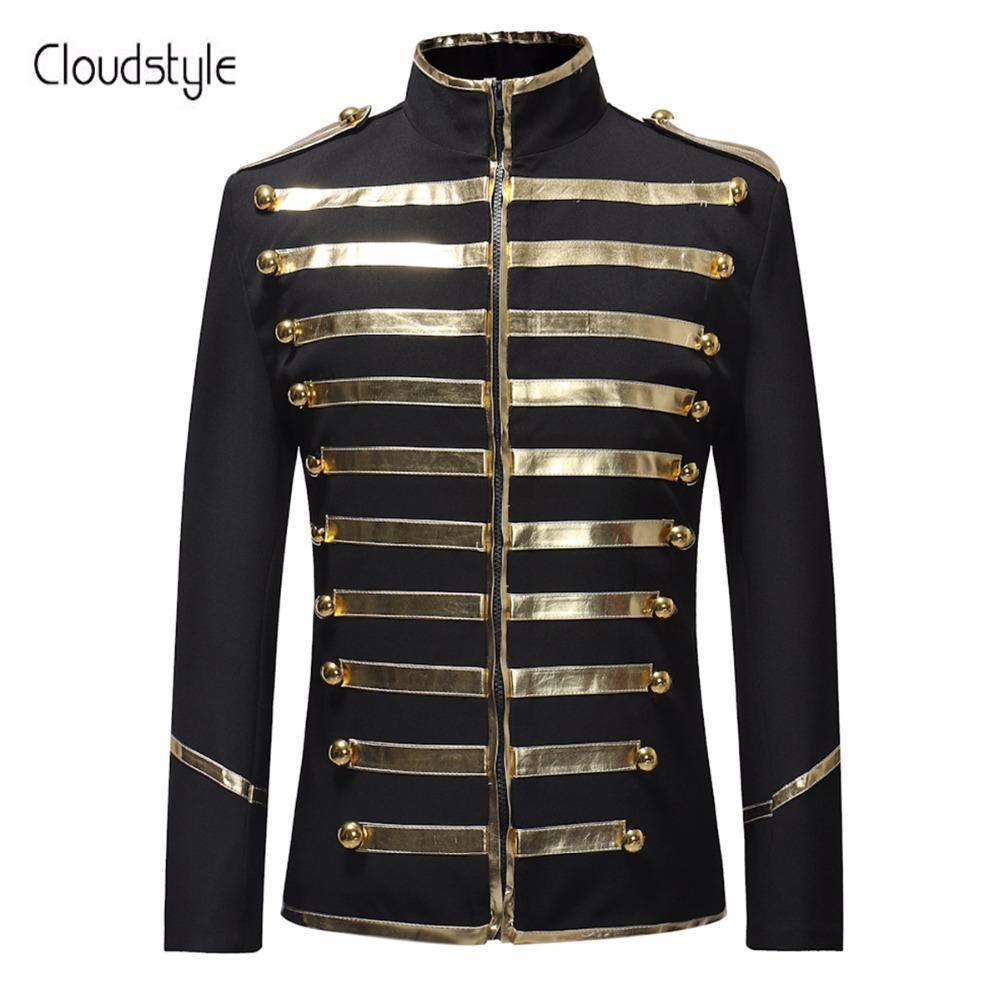 Cloudstyle 2018 Sonbahar Bahar Pullu Sahne Suit Ceket Erkekler Parti Elbise Takım Elbise Moda Dijital Baskı Rahat Drama kostüm Blazer