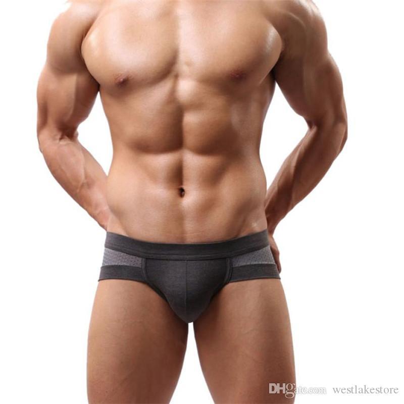 Macio e respirável boxer Sexy Underwear Men Boxer Shorts Bulge Pouch Cuecas Macias Sexy Cintura Baixa Slip Cuecas Calcinha Masculina