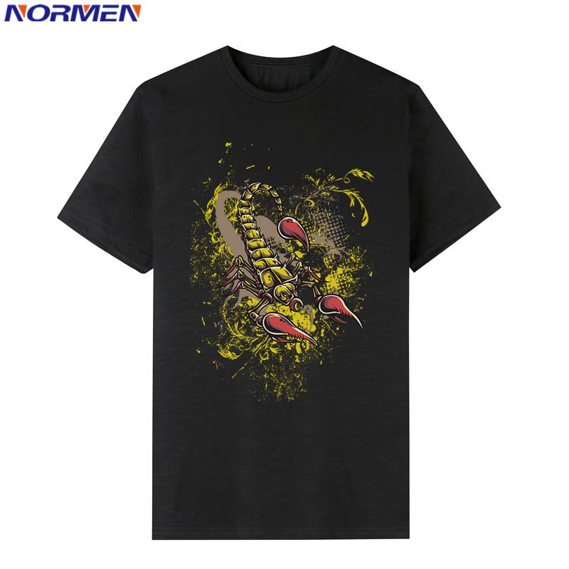 NORMEN Moda Uomo Scorpione T-Shirt stampate 95% Cotone Girocollo Manica corta Casual Top Tees Camicie Hip Hop Magliette Estate