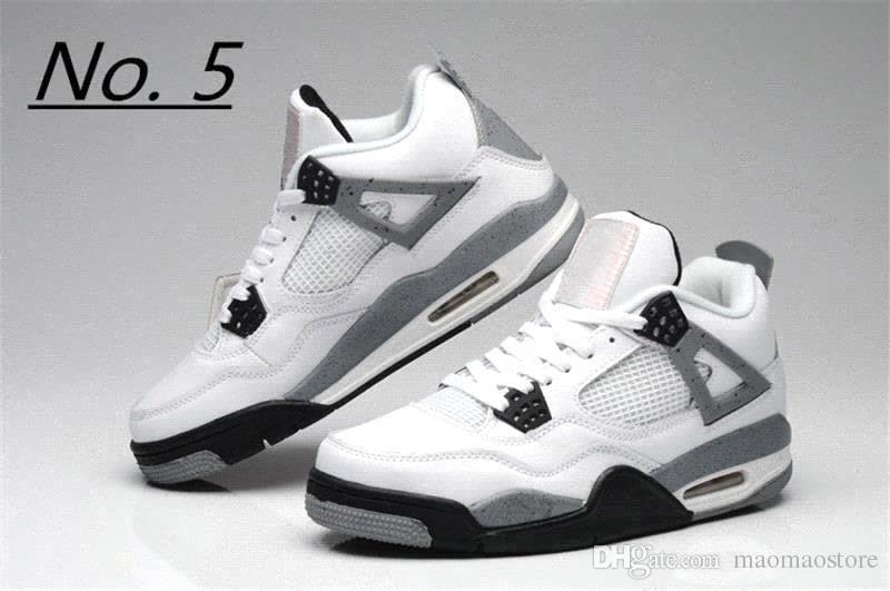 nike air jordan aj4 2018 4 4s tênis de basquete homens puro dinheiro realeza branco cimento raptors gato preto raça fogo vermelho mens formadores sports sneakers tamanho 8-13