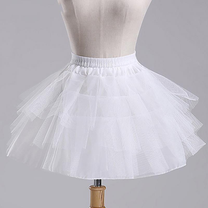 Sottoveste bianca del pettirosso delle ragazze di Tulle senza la breve underskirt del cerchio per il vestito da cerimonia nuziale della sfera 2018 nuovo arrivo