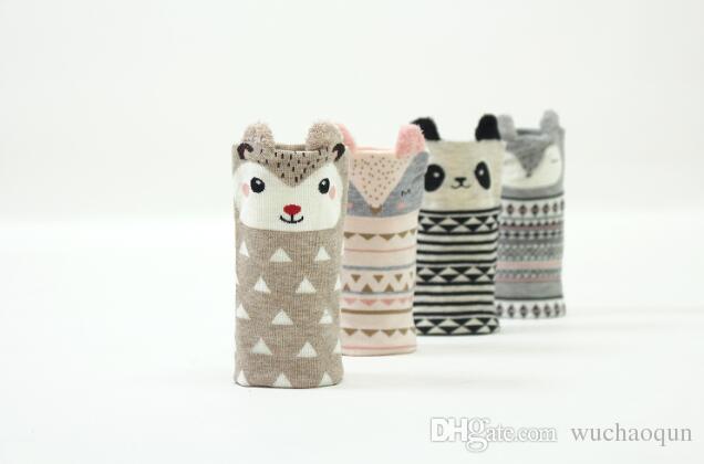 Çocuklar küçük çocuklar yeni yürüyüş hayvan logosu panda ördek fare öğrenme için doğmuş 1-3 yıl bebek çorapları