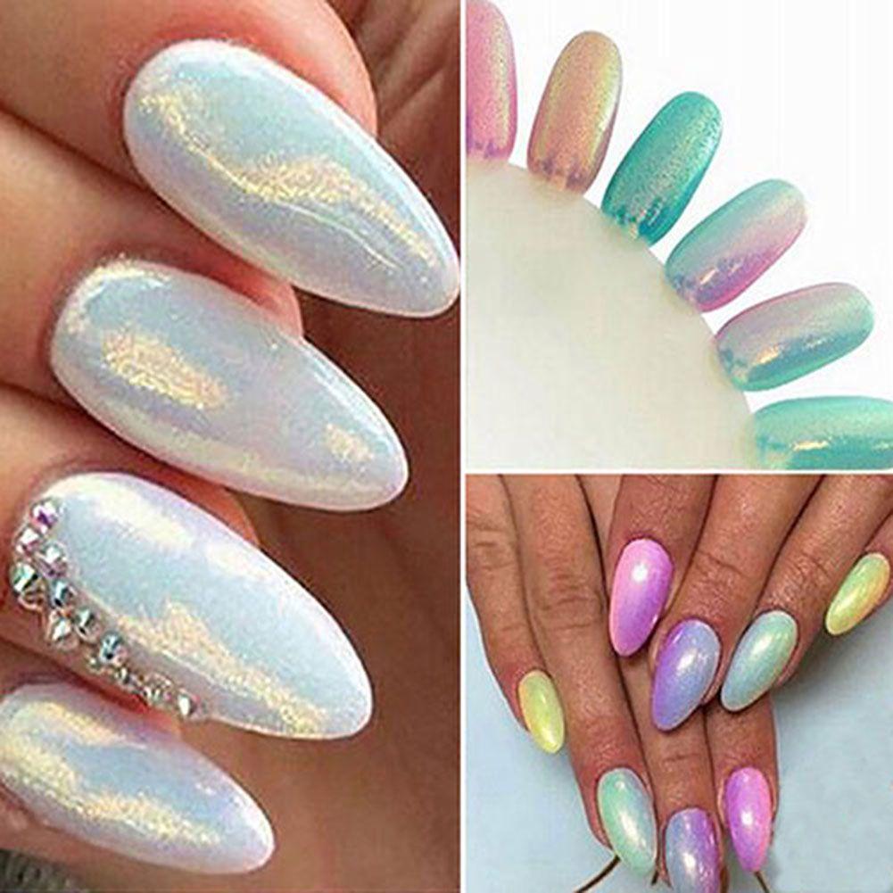 Женщины сверкающих ногтей зеркало порошок хром пигмент блестит маникюр DIY инструмент