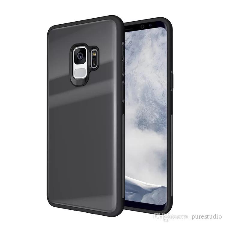 Dla Samsung Galaxy S9 Case, szkło hartowane z powrotem i osadzanie amortyzatora TPU Pełna obudowa ochronna dla Samsung S9 Plus