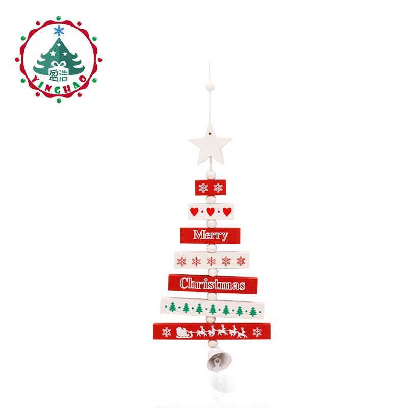 inhoo Wooden Merry Christmas Tree Decor Pendants Xmas Tree Ornaments Christmas crafts Decoration Happy New Year Home Decor Gifts