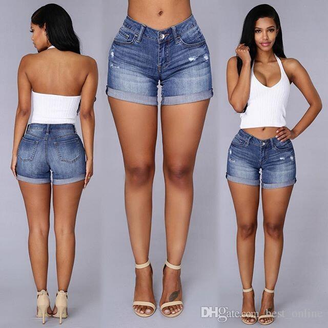 migliori scarpe da ginnastica 909b1 9841a Acquista Nuovi Arrivi Moda Donna Ricamo Rosa Floreale Vita Alta Jeans Corti  Ragazze Foro Denim Short Mini Jeans Shorts A $19.74 Dal Best_online | ...