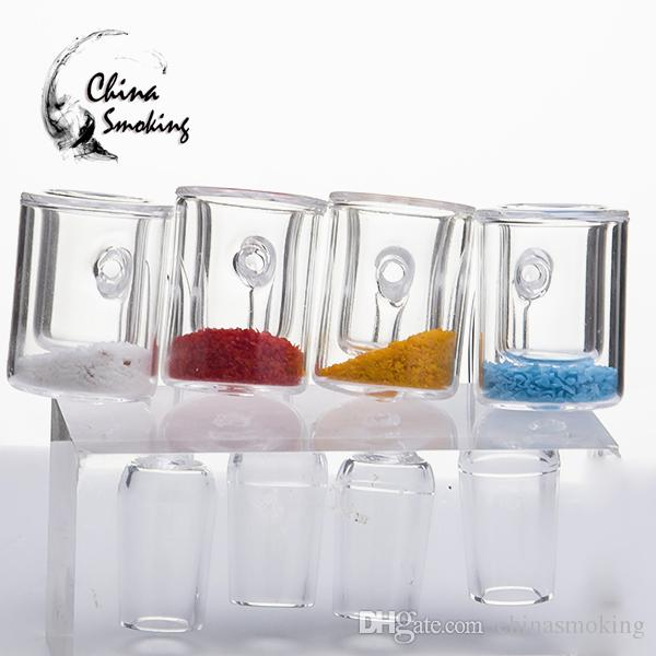Thermochromer Buket Banger Quarz-Nagel-Cadmium-Kern-Boden-flache Oberseite OD 26mm Domeless Nägel 14mm 18mm männliche Frau-Tupfen-Anlage