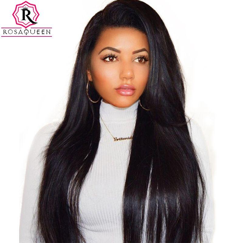 Parrucche di capelli umani anteriori del pizzo della densità del 250% per le donne nere dritte precipitando la parrucca brasiliana del merletto brasiliano finisce rosa rosa regina remy