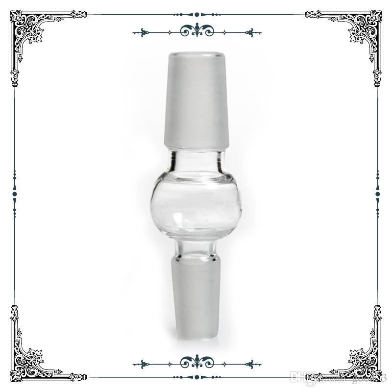 90 grados convertidor de vidrio de 14 mm Adaptador de vidrio macho adaptador forglass artículos para fumadores bongs envío libre
