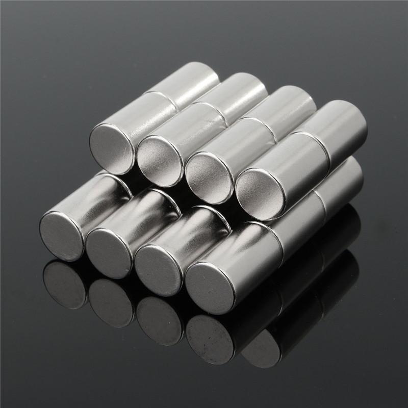 20pcs 네오디뮴 자석 N50 10mm x 15mm 강한 희토류 라운드 산업 자석