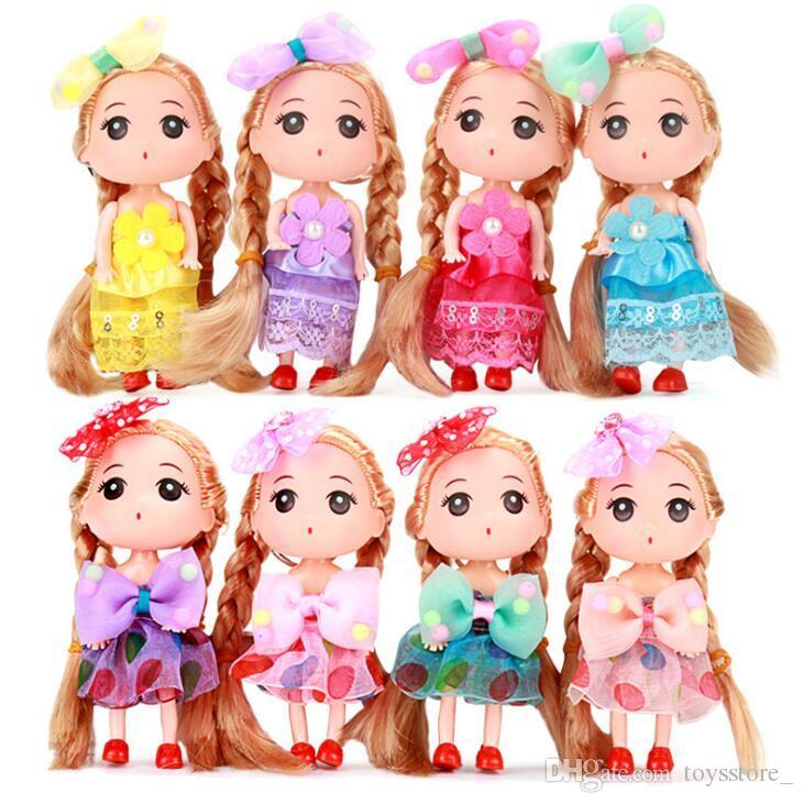 Korean version of 12cm confused doll baking dessert decoration cake naked doll mold vinyl doll key pendant figurine