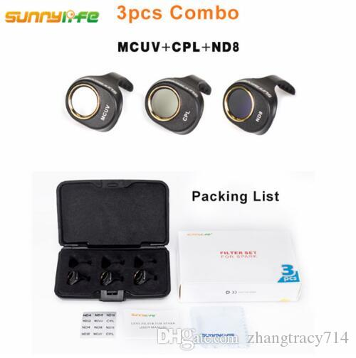 MCUV//CPL//ND4//ND8 for DJI Spark Gimbal Camera Lens Filter Combo ND4 ND8 ND16 ND32 MCUV CPL for HD Clear Lens Filte for DJI Spark Drone