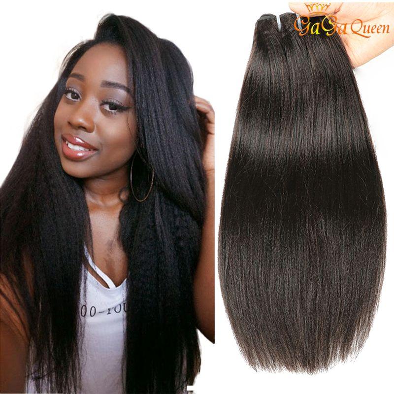 Бразильские kinky прямые пакеты волос 9a необработанные девственницы бразильские яки прямые человеческие волосы плетение пучки грубые яки