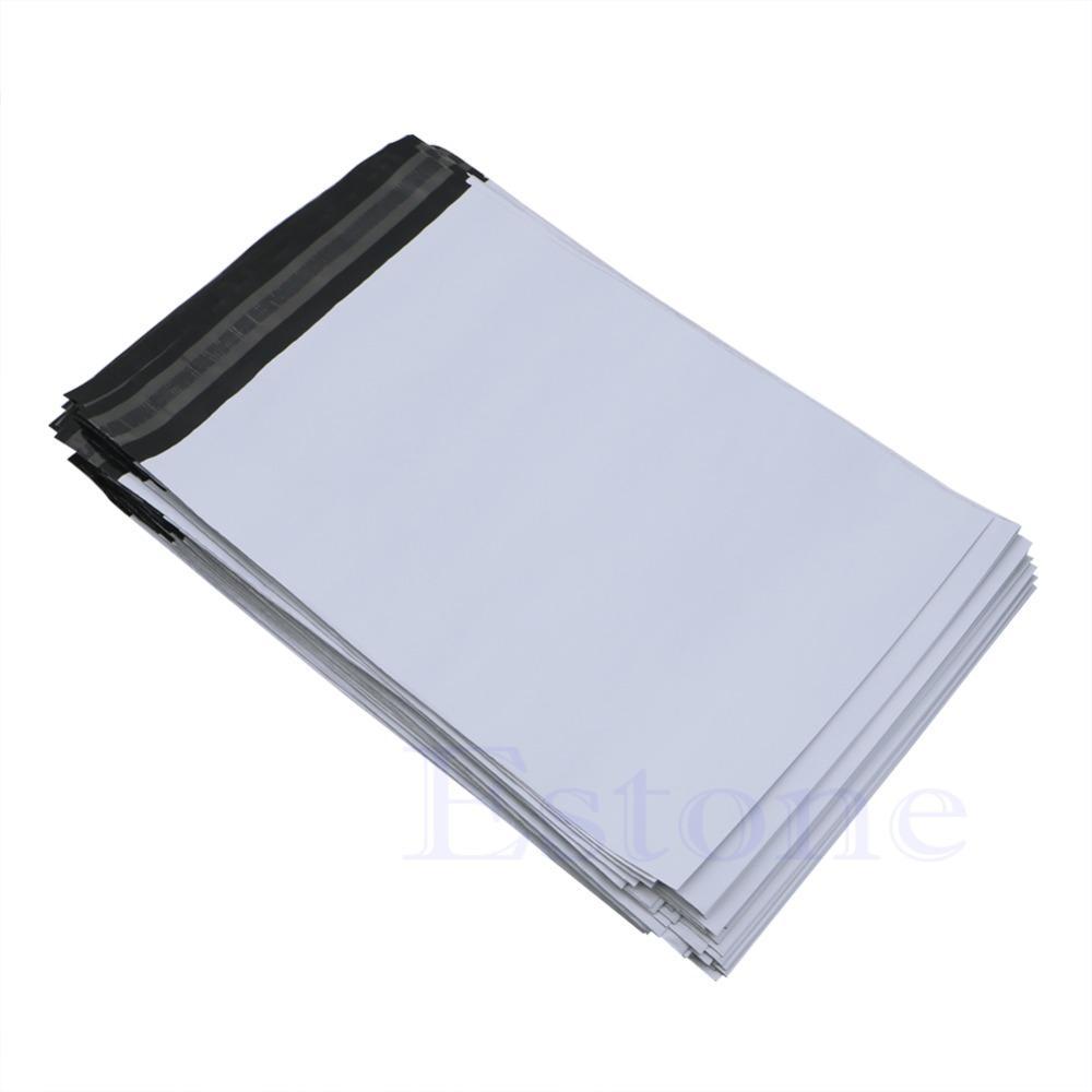 100 Pcs 20 * 34 cm Poly Mailer De Plástico De Envio De Sacos De Correio Envelope Polybag Novo