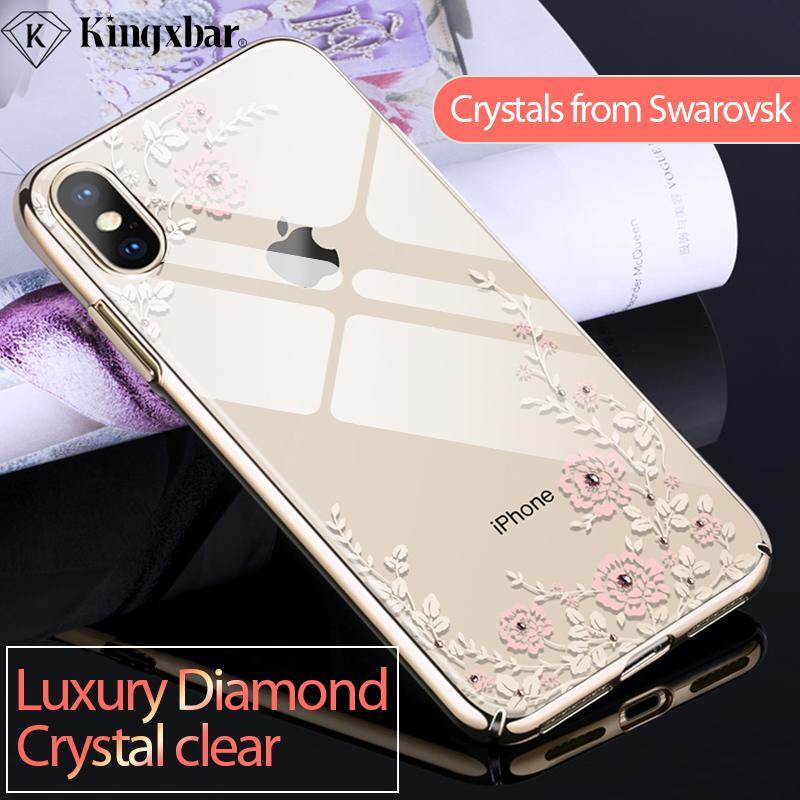venta al por mayor Funda para iPhone Xs Funda Hermosa para iPhone Xs Cobertura máxima de lujo para iPhoneXs Cubierta de cristales transparentes de Swarovski