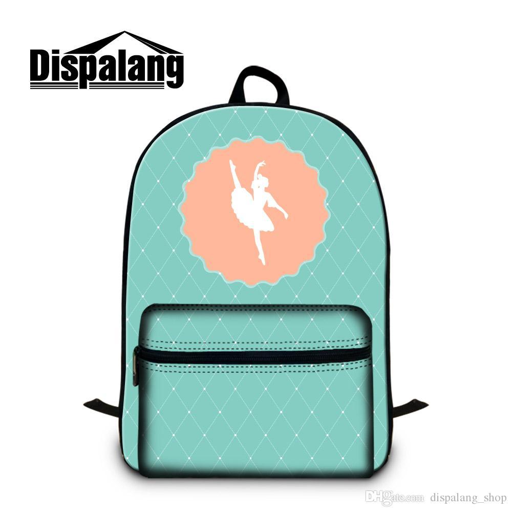 Cute Backpack for Teenager Girls Middlle School Students Bookbag Lightweight Mochilas Ballet Printing Women Rucksack for Laptop 14 inch Kids