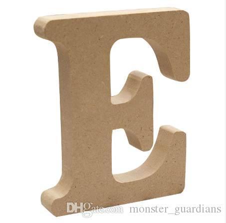 1 Adet DIY Ev Dekorasyonu Ahşap Mektubu 26 Ahşap İngilizce alfabe Düğün Dekorasyon DIY El Sanatları Süsler El Sanatları Aksesuarları