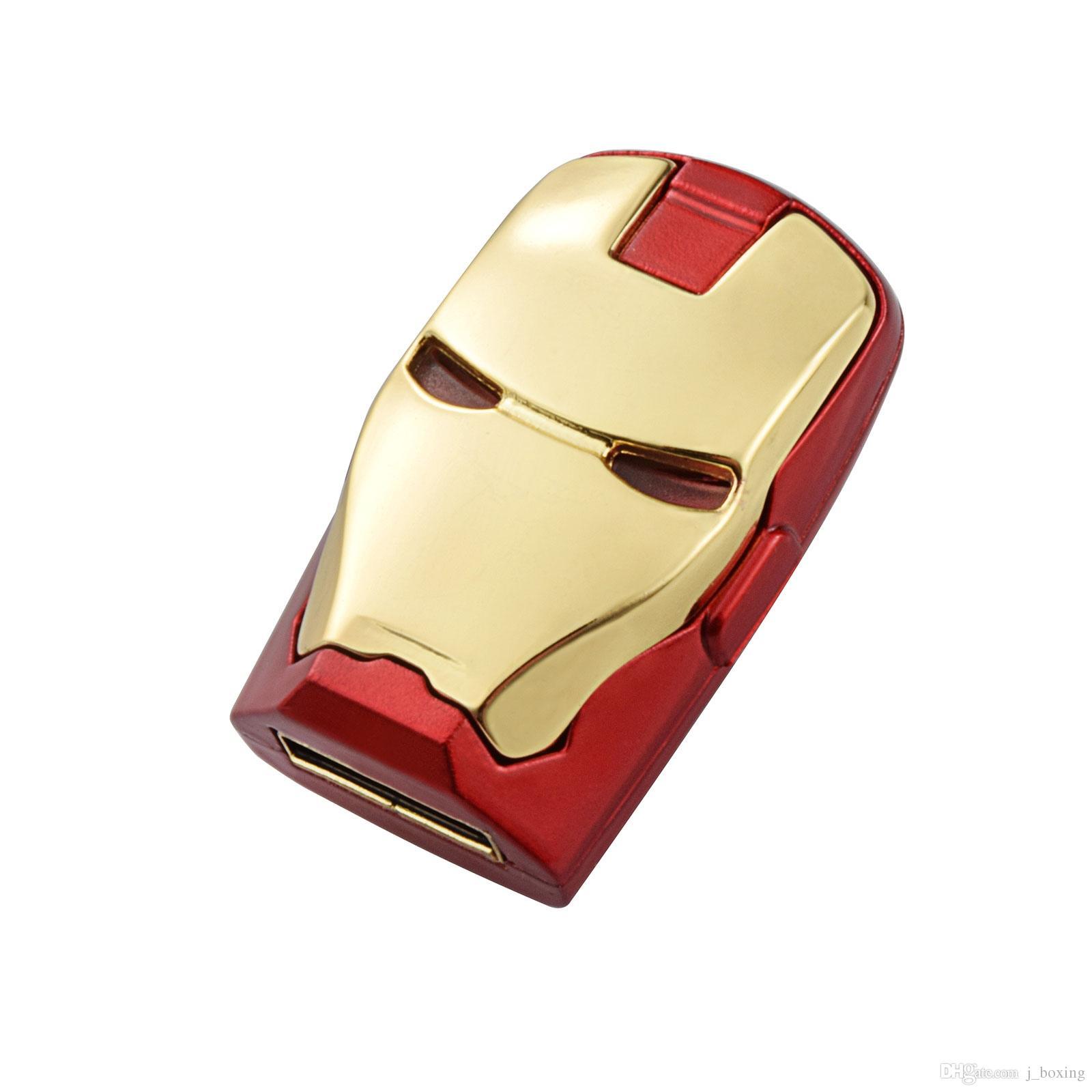 Livraison Gratuite 10 PCS / LOT 256MB LED Iron Man Clés USB Thumb Pen Drives Stockage pour PC Ordinateur Portable Tablet 256 Mo USB 2.0 Memory Stick Or