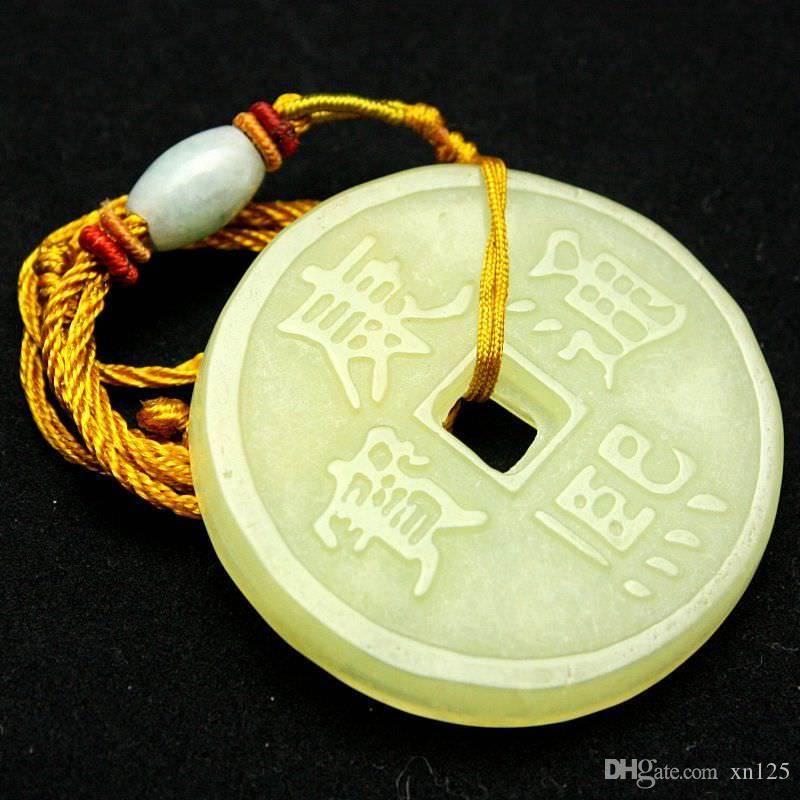 Magnifiques Colliers Jaunes Naturels Exquis Xiu Jade Pendentifs Colliers Faits À La Main