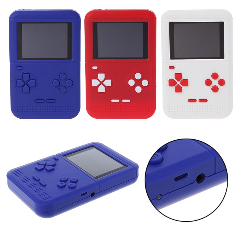 300 1 Nostalgic Games 플레이어 휴대용 레트로 미니 휴대용 게임 콘솔 크리스마스 선물을위한 8 비트 2.6 인치 컬러 디스플레이 어린이 게임 플레이어