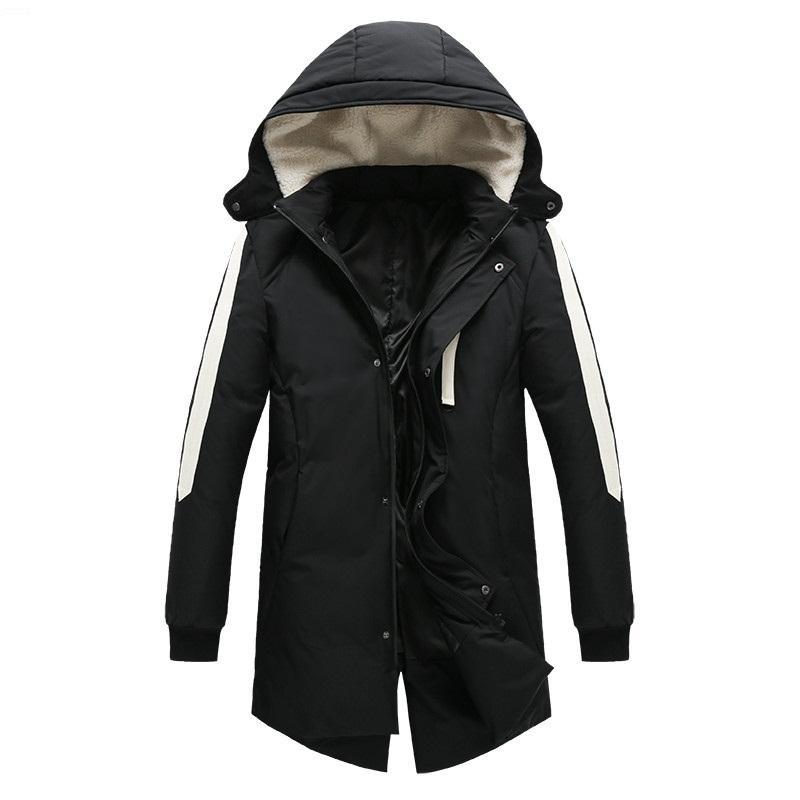 YENI erkek Kış Aşağı Palto 2018 erkekler Kapşonlu Coat erkek Parkas slim fit kalın Paltolar Casual Ceketler Masculino Artı Boyutu M-3XL