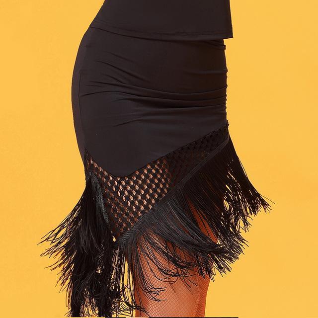 Gonna da ballo per adulti latino nappa di moda nera per donna / donna / ragazza, costume da ballo Vogue Pratica abbigliamento da spettacolo