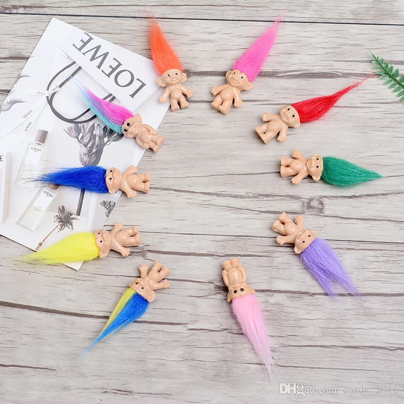 Bunte Haar-Troll-Puppen-Familienmitglieder Vati-Mama-Baby-Mädchen-Leprocauns-Verdammungs-Troll-Spielzeug-Geschenke Glückliche Liebes-Familie