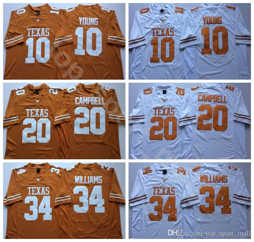 Texas Longhorns College Football 7 Shane Buechele Jersey 10 Vince Young 20 Earl Campbell 34 Ricky Williams 12 Colt McCoy 98 Brian Orakpo