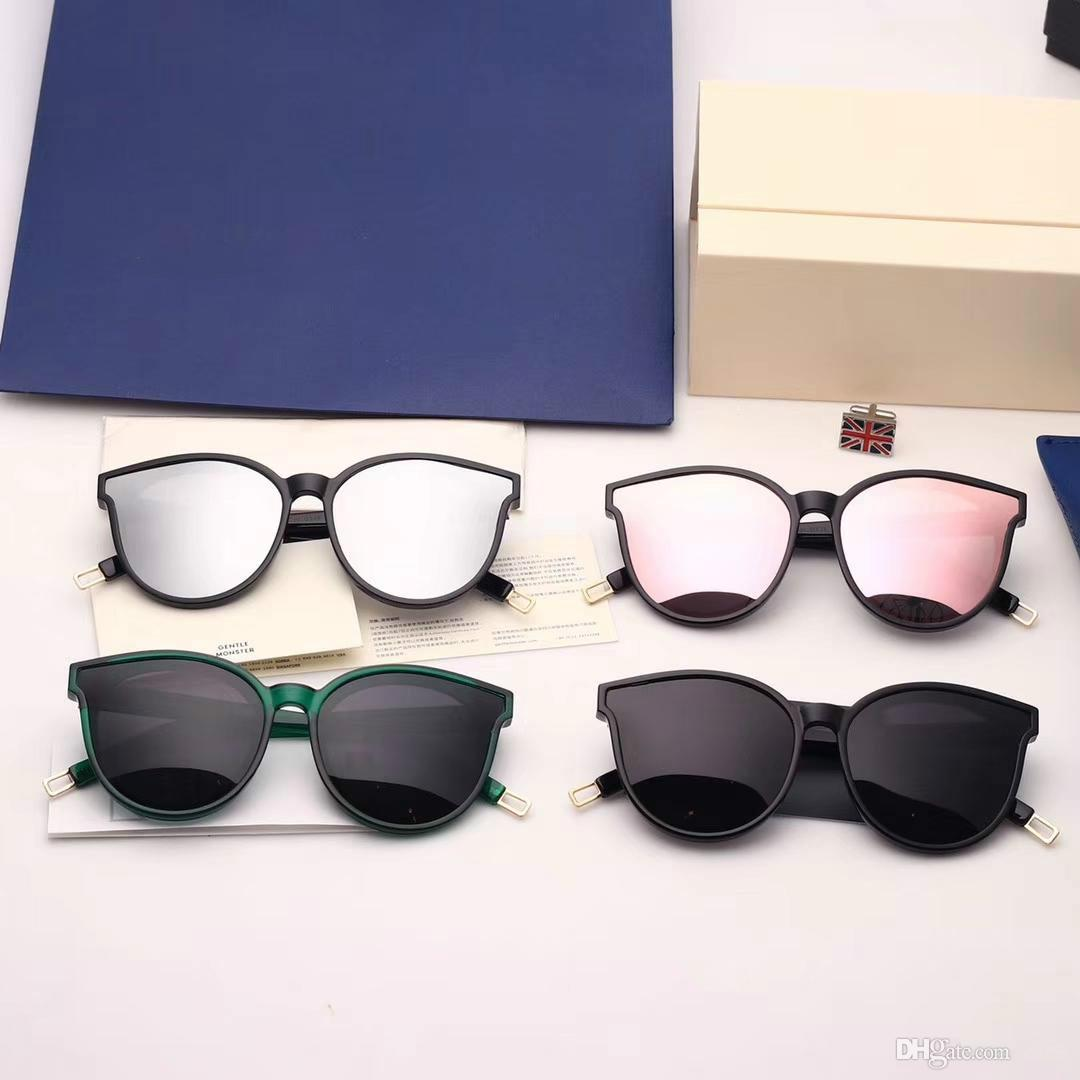 Marca de Óculos De Sol-2018 Nova Coreano Top Fashion V marca GM MONSTER Óculos De Sol Das Mulheres de Luxo óculos de sol Lente Do Oceano Com Caso Original