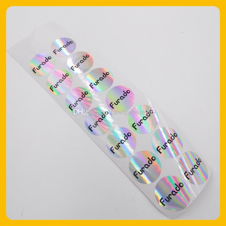 Customized anti-fake round hologram logo sticker bottle seal rainbow colorful hologram label