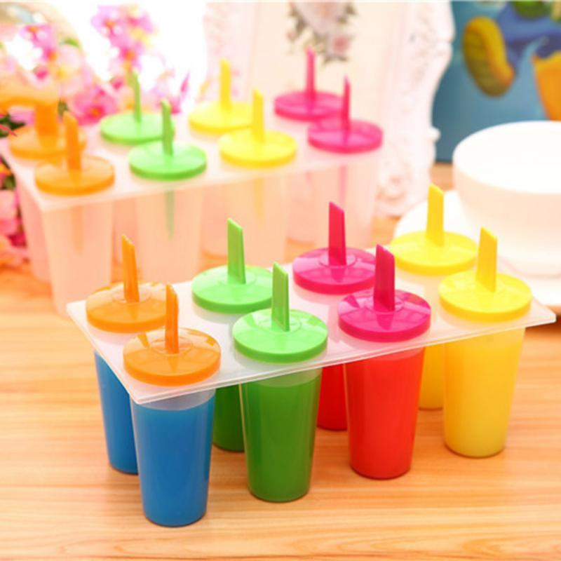 Yeni 8 Cep Yuvarlak Şekil DIY Dondurma Dondurulmuş Popsicle Maker Kalıp Icepop Blok Buzlu Kutup