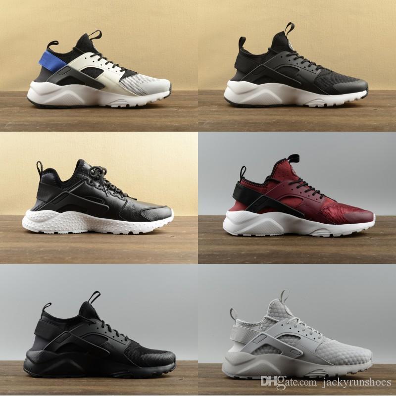 2019 Cheap Air Huarache 1 IV 4 Ultra Classique Blanc Noir Rouge Gris Huaraches Chaussures Hommes Femmes Chaussures de course designer de sport Baskets