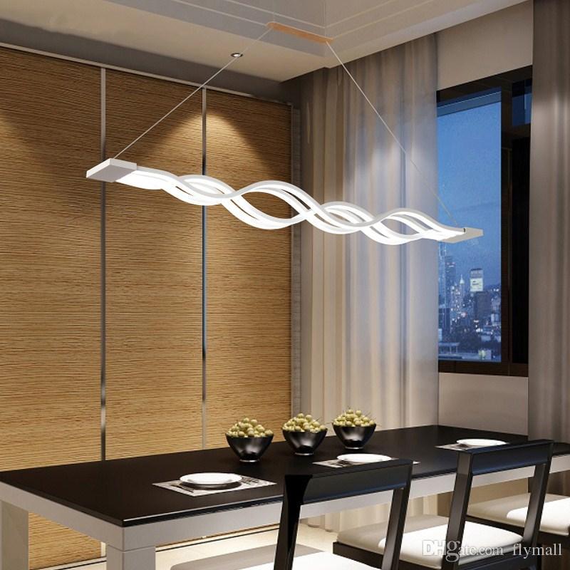 Compre Luces Colgantes Creativas Led Moderno Para Comedor Acrílico + Metal  Suspensión Colgante Lámpara De Techo Iluminación Para El Hogar Para Cocina  ...