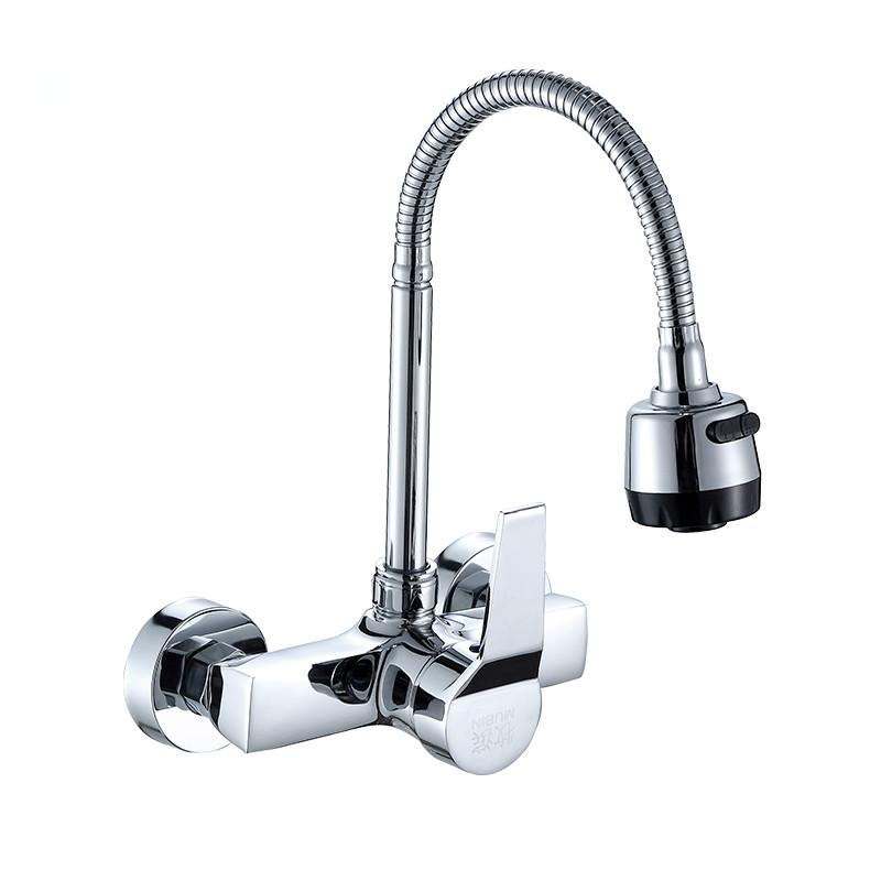 Mitigeur 360 Degree Swivel simple tube flexible Kitchen Sink bassin Robinet eau froide Tap Vanity Robinetterie Navire Pont Mont