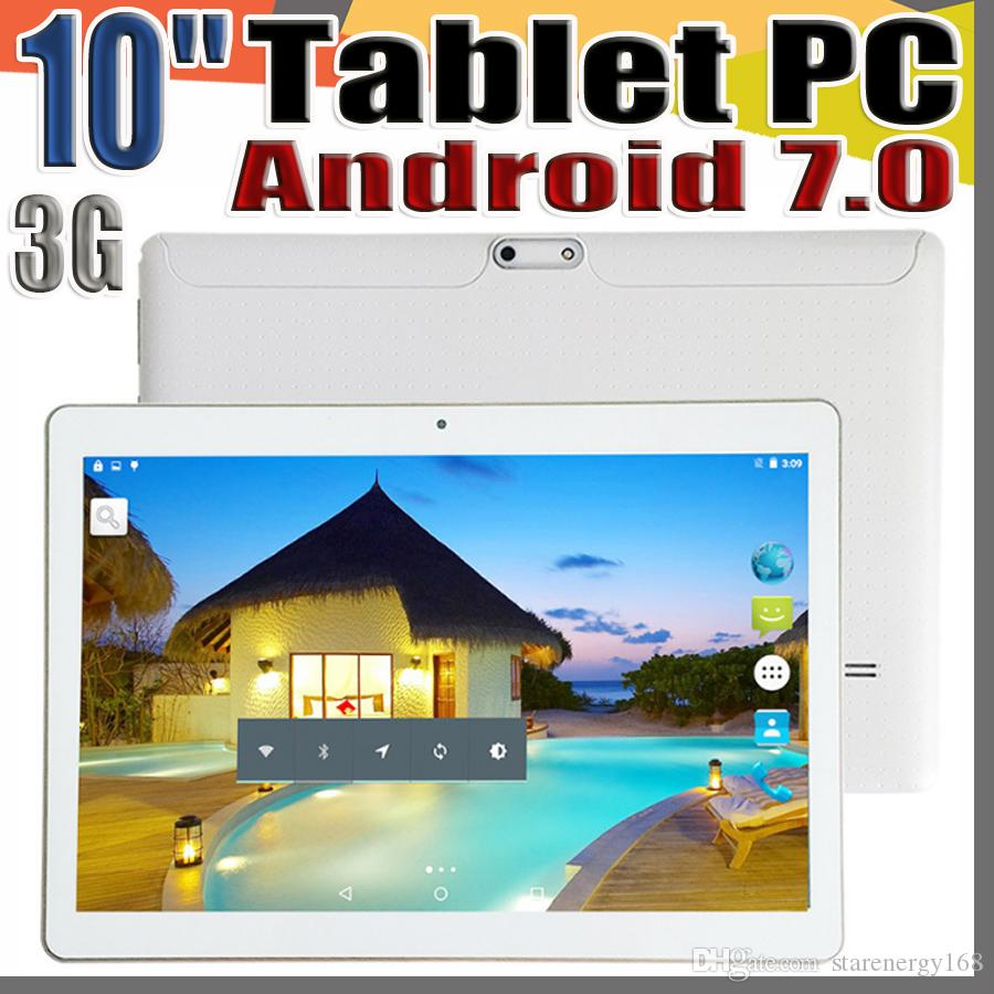 "168 10 Inch 10 "" Tablet PC MTK6580 Octa Core Android 7.0 4GB RAM 64GB ROM Phable tablet IPS Screen GPS 3G phone tablets E-9PB"